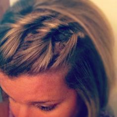 Twist to hold back bangs
