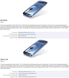 Samsung Galaxy S III for Verizon and Sprint appear at the SIG