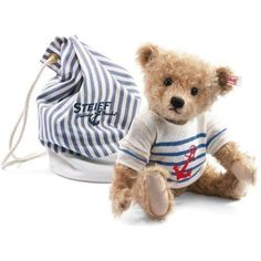 Steiff Limited Edition Will the Sailor Mohair Teddy Bear with Bag, 035807