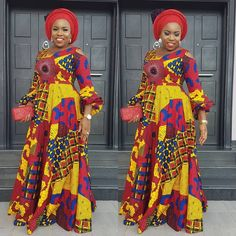 Pictures of our most lovely ankara styles of all time for every beautiful lady out here. Some try these lovely ankara styles African Print Dresses, African Dresses For Women, African Attire, African Wear, African Style, African Outfits, African Clothes, African Design, African Prints