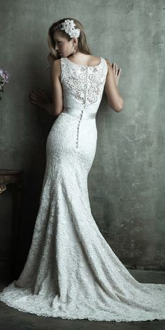 Romantic lace back ~ Allure Couture Spring 2014 Bridal Collection