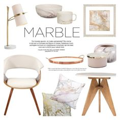 """""""Classic Elegance: Marble Home"""" by helenevlacho ❤ liked on Polyvore featuring interior, interiors, interior design, home, home decor, interior decorating, LumiSource, Broste Copenhagen, Arteriors and PTM Images"""