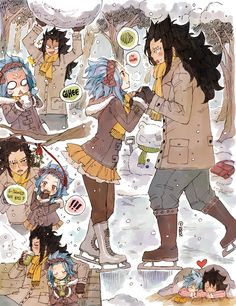 Tags: Fanart, FAIRY TAIL, Levy McGarden, Gajeel Redfox, Rusky-boz, PNG Conversion, Tumblr