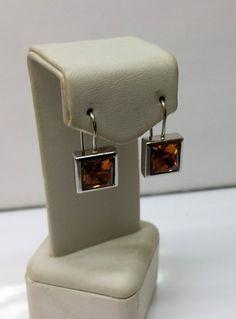 Ohrringe Ohrhänger Kristalle orange Silber SO169 von Schmuckbaron