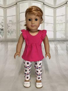 "New DOLLIE ME GIRL Halloween TOP LEGGINS Set 4 8 10 FITS AMERICAN GIRL 18/"" Dolls"