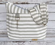 Diaper bags by Darby Mack our 'Leila' bag in Cement by DarbyMack