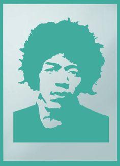 Jimi Hendrix Retro Stencil Home Decorating stencil painting