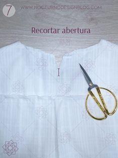 Blusa con puños en gola + molde gratis – Nocturno Design Blog Design Blog, Camisole Top, Sewing, Tops, Diy, Women, Fashion, Amor, Frases