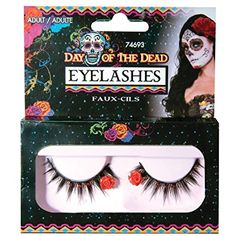 Day Of The Dead Fake Eyelashes -- You can get additional details at the image link. (This is an affiliate link) #MakeupBrushesTools