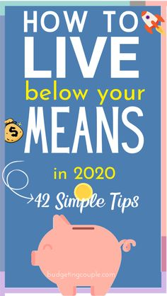 42 Frugal Tips💸 to Live Below Your Means in 2020 - Want to save thousands (every month) in Check out our ultimate guide to living below your mea - Best Money Saving Tips, Money Saving Challenge, Ways To Save Money, Money Tips, Saving Money Plan, Frugal Living Tips, Frugal Tips, Budgeting Finances, Budgeting Tips