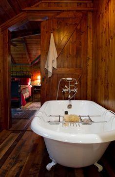 Amazing Rustic Natural Bathrooms I want that tub