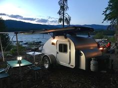 High Camp Trailers™ is an award-winning teardrop trailer manufacturer in Portland, Oregon in the Pacific Northwest. Motorcycle Camper Trailer, Small Camping Trailer, Trailer Manufacturers, Teardrop Trailer, Camper Trailers, Glamping, Caravan, Recreational Vehicles, Rv