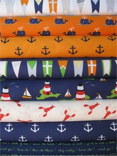 "Jack and Lulu, ""All Hands On Deck"" fabrics"