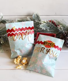 Christmas Goodie Bags by Kimberly Crawford for We R Memory Keepers.