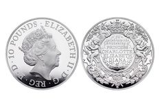 Royal Mint showed coin in honor of the baptism of Princess Charlotte