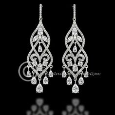 Diamond chandelier earrings google search earings pinterest chandelier cz earrings with marquise jewels mozeypictures Images