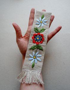 adorable handmade kashubian embroidered Bookmark by Zofija on Etsy,