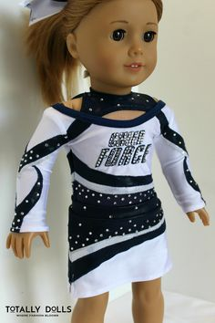 American Girl Doll Clothing / 18 Inch Doll Clothing / Custom Order / Doll Uniform / Competition Cheer / Cheer Uniform / Cheer Force Arkansas / Cheer Bow / Custom Replica / Totally Dolls /  Ask us about our custom orders and see what we can create for you!