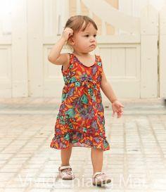 Toddler girl dress size 2T kids clothes age 24 by VividDress, $17.00