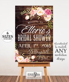 7cd010962d3 Printable Bridal Shower Welcome Poster Bridal Shower Sign