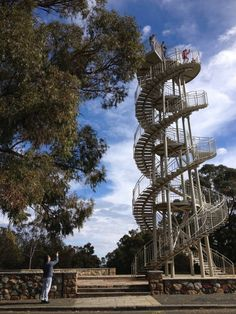 DNA Tower, Kings Park - Buggybuddys guide to Perth School Holidays, School Fun, School Holiday Activities, Perth Western Australia, Kings Park, Birds Eye View, Dna, Holiday Ideas, Places To See