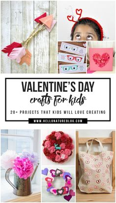 Looking for some fun and easy Valentine's Day Projects for Kids? With over 20 crafts, this list is perfect for those big and small! #valentinesday #valentinesdaycrafts #kidcrafts #valentinesdaywithkids