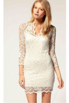Ivory lace.