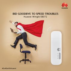 Buffered speed are passe. Enjoy unrestricted internet browsing with the latest Huawei E8372 Datacard! #Go4GwithHuawei.