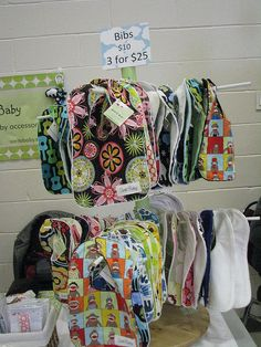 We could do this to get the baby bibs off the grid wall and free up space for kitchen towels.