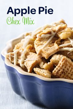 If we had any guests from Seattle or the State of Washington, we would most definitely feel compelled to serve up this (Washington) Apple Pie Chex Mix. Bring on #GameDay!