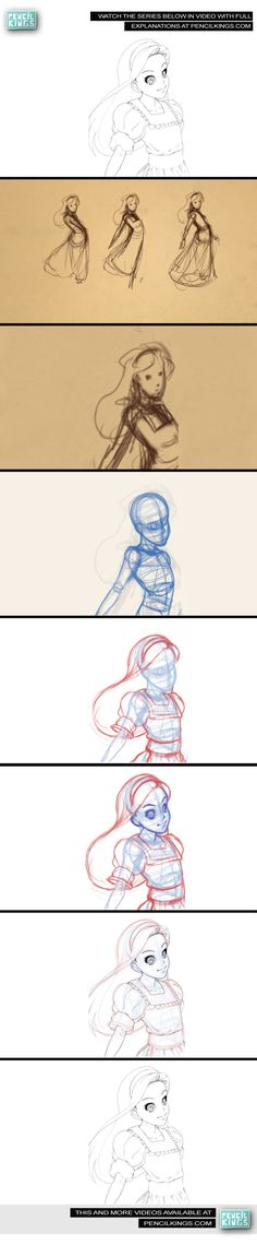 COMIC PENCILING - DRAWING ALICE VIDEO SERIES    Artist: SYCRA YASIN    If you want to watch this in full series just go to this link http://www.pencilkings.com/2012/04/28/comic-penciling-drawing-alice/