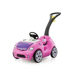 Step2 Whisper Ride II Push Car | Pink Toddler Ride On Toy A toddler push car with a sleek automotive design, smooth quiet ride wheels, and a kid powered car horn Ride on features two cup holders for the child and one for parents Car features an easy to fold handle for easy storage and quick transportation Safety belt included to keep toddlers secure inside the car; Maximum weight on ride-on: 50 pounds. (22.7 kg) Spacious storage located under the car's hood for transportation of little treasures Toddler Toys, Baby Toys, Kids Toys, Children Play, Children's Toys, Outside Toys For Toddlers, Best Christmas Toys, Christmas Gifts, Family Christmas