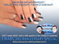 Nail Branding for hosting the 3rd Anniversary EWABS Live Broadcast Party on April 21, 2014!  See http://vopeeps.com for more information