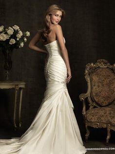 Stylish Allure Bridals 8912 Satin Mermaid Wedding Dress   Corset Mermaid Wedding Dress