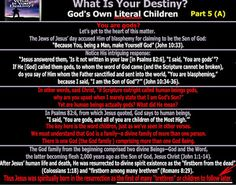 They follow the Lamb wherever he goes: God's Own Literal Children - Part 5 (A) - (You are...