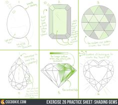 Check out the Exercise and Download the Practice SheetHERE EXERCISE: To practice the art of shading gems accurately with confidence.This exercise is to be confident in adding gems, jewe...
