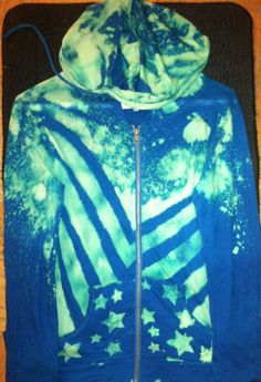 Stars and stripes design bleached #hoodie #bleached #handmade #freeloadapparel #fashion #design #apparel
