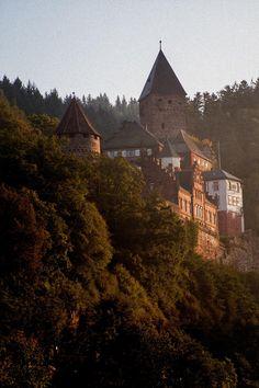 The beautiful Zwingenberg Castle in the Neckar Valley, near Heidelberg, Germany