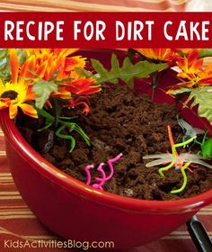Recipe for dirt cake. What my grandma used to make for our birthdays when we were little!!!!!