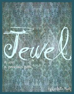 Baby Girl Name Jewel Meaning Joy Precious Gem Origin Latin English www p P Baby Names, Girl Names With J, Baby Boy Names Strong, Baby Girl Names Unique, Popular Baby Names, Baby Names And Meanings, Cute Names, Names With Meaning, Latin Meaning