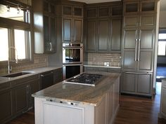 New kitchen cabinets and island by Creative Cabinetry.