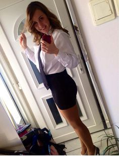 Dress Up In Her Shirt And Tie