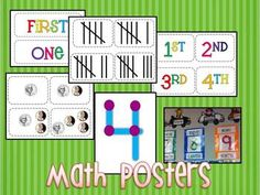 Math number posters