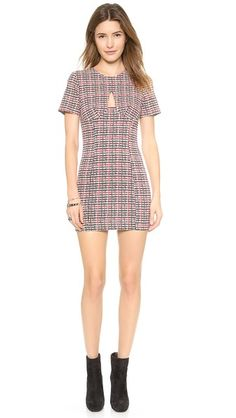 re:named Plaid Peep Dress