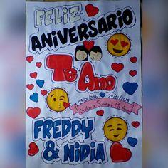 Pancarta de aniversario Gifts For My Boyfriend, Congratulations Card, Love Notes, Lettering, Cards, Billboard, Diy, Brownies, Chocolate