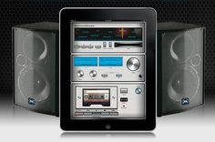 iPad turned 1980s radio-casette.....Now that is what I call new meets old, or is it....old meets new?