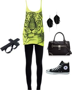 i like the pants, shirt, & earrings....  Girl at the Rock Show, created by courtneyjones-87 on Polyvore