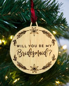 Christmas bridesmaid gifts