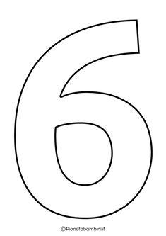 Numeri da Stampare, Colorare e Ritagliare per Bambini | PianetaBambini.it Zentangle, Outline, Numbers, Cute Pets, Boyfriends, Activities, Graffiti Numbers, Manualidades, Photos