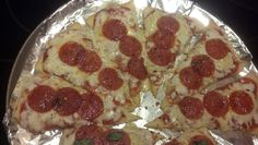 Pizza! Fast, easy, cheap individual pizza slices on croissants